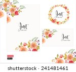 vector set of invitation cards... | Shutterstock .eps vector #241481461