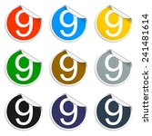 flat 9 icon button with long... | Shutterstock .eps vector #241481614