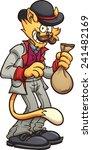 Cartoon Cat In A Victorian Sui...