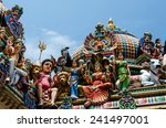 Small photo of Detail of Sri Mariamman Temple in Singapore. It is Singapore's oldest Hindu temple. It is an agamic temple, built in the Dravidian style./Detail of the Sri Mariamman Temple in Chinatown, Singapore