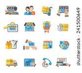 shopping e commerce online... | Shutterstock .eps vector #241500649