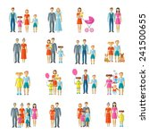family icons flat set with... | Shutterstock .eps vector #241500655
