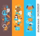 job interview flat banner... | Shutterstock .eps vector #241502029
