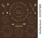 ethnic arrows  round frames and ... | Shutterstock .eps vector #241507885