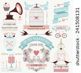 vector set of decorative design ... | Shutterstock .eps vector #241508131