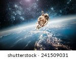 astronaut in outer space... | Shutterstock . vector #241509031