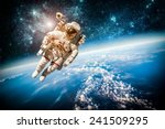 astronaut in outer space... | Shutterstock . vector #241509295