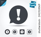 exclamation mark sign icon.... | Shutterstock .eps vector #241510069