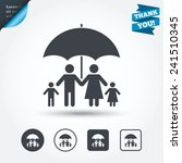 complete family insurance sign... | Shutterstock .eps vector #241510345