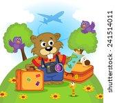 beaver traveler   vector... | Shutterstock .eps vector #241514011