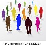 people walking silhouettes   Shutterstock .eps vector #241522219
