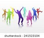 dancing people | Shutterstock .eps vector #241523104