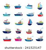 cute boat ship vector... | Shutterstock .eps vector #241525147