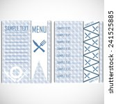 design solution for the menu in ... | Shutterstock .eps vector #241525885