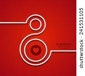 vector modern 8 march... | Shutterstock .eps vector #241531105