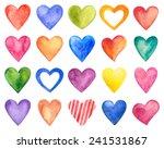 vector watercolor hearts ... | Shutterstock .eps vector #241531867