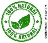 100 natural stamp | Shutterstock .eps vector #241534675