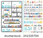 elements of the modern city.... | Shutterstock .eps vector #241535704