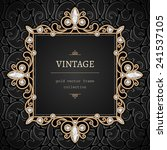 vintage gold background  square ... | Shutterstock .eps vector #241537105