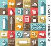 baking flat set. vector | Shutterstock .eps vector #241539145