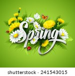 fresh spring background with