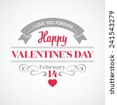typography valentine's day cards | Shutterstock .eps vector #241543279