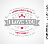 typography valentine's day cards | Shutterstock .eps vector #241543321