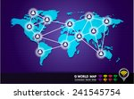 blue world map  people to... | Shutterstock .eps vector #241545754