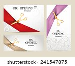 set of big opening invitation... | Shutterstock .eps vector #241547875