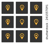 set of map pins for your design | Shutterstock .eps vector #241557091