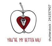 valentine s day card | Shutterstock .eps vector #241557907