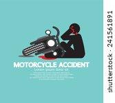 biker with motorcycle have in...   Shutterstock .eps vector #241561891