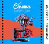 movie cinema festival poster.... | Shutterstock .eps vector #241564705