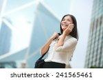 Business Woman Talking On Smar...