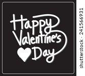 happy valentine's day lettering ... | Shutterstock .eps vector #241566931
