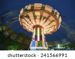 Colorful Carousel In Motion