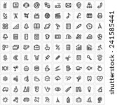 100 universal icons  ... | Shutterstock .eps vector #241585441