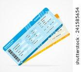 vector modern airline boarding... | Shutterstock .eps vector #241585654