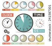clock   hours vector set in... | Shutterstock .eps vector #241587301