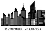 modern city skyline skyscrapers | Shutterstock .eps vector #241587931