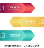 vector colorful text boxes ... | Shutterstock .eps vector #241592545