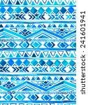 vector seamless tribal pattern... | Shutterstock .eps vector #241601941
