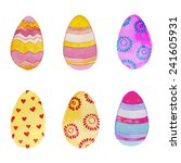 watercolor easter eggs set.... | Shutterstock .eps vector #241605931