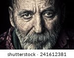 very old senior man portrait | Shutterstock . vector #241612381