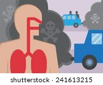a cross section of a persons... | Shutterstock .eps vector #241613215