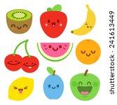 funny flat cartoon happy yummy ... | Shutterstock .eps vector #241613449