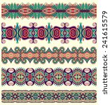 seamless ethnic floral paisley... | Shutterstock .eps vector #241615579