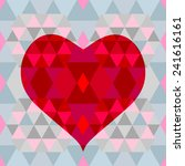 colorful geometrical heart on... | Shutterstock .eps vector #241616161