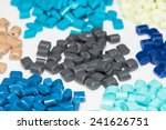 Several Dyed Synthetic Polymer...