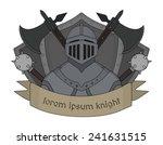 medieval knight logo. helmet ...   Shutterstock .eps vector #241631515